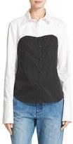 Tibi Women's Bustier Shirt