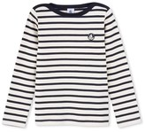 Petit Bateau Boys sailor shirt in thick jersey