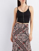 Charlotte Russe Ribbed Cropped Tank