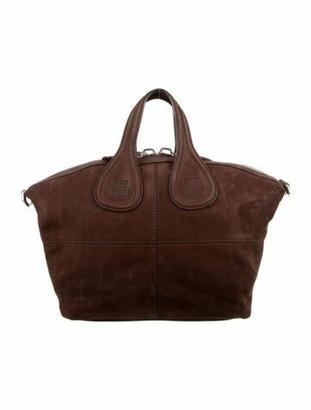 Givenchy Nightingale Suede Shoulder Bag Brown