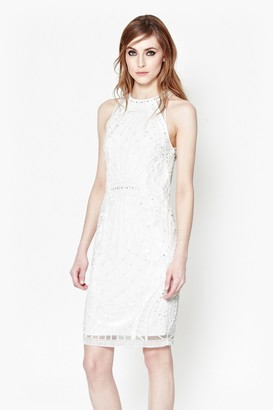 French Connection Pearl Embellished Cage Dress