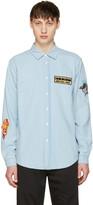 Kenzo Blue Denim Badges Shirt
