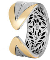 John Hardy Modern Chain 18K Gold & Silver Large Kick Cuff Bracelet