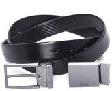 HUGO BOSS Men's Reversible Two Buckle Giasone Belt