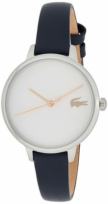 Lacoste Women's Cannes Stainless Steel Quartz Watch with Leather Strap Blue 12 (Model: 2001100)