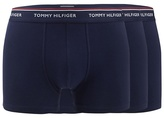 Tommy Hilfiger Pack Of Three Navy Cotton Stretch Hipster Trunks