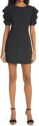 Alice + Olivia Hanita Ruched Sleeve Shift Minidress