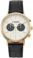 Chaps Men's Dunham Leather Chronograph Watch