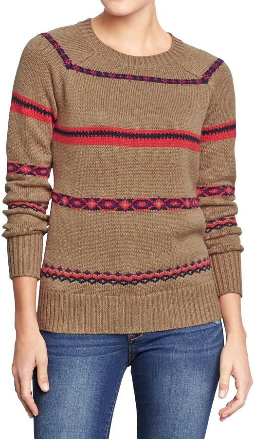 Old Navy Women's Fair Isle Sweaters
