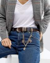 Asos Jeans Belt With Hanging Charm Chain