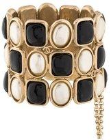 Chanel Pearl & Resin Cuff Bracelet