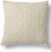 "Ralph Lauren Home Judson Cable-Knit Pillow, 20""Sq."