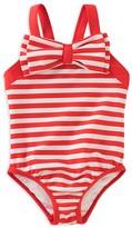 Kate Spade Girls' Striped Bow Swimsuit - Big Kid
