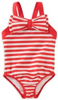 Kate Spade Girls' Striped Bow Swimsuit - Sizes 7-14