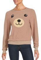 Wildfox Couture Long Sleeve Bear Graphic Sweatshirt