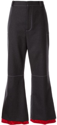 Marni Cropped Flared Trousers