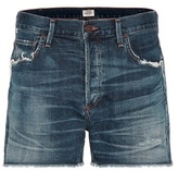 Citizens of Humanity Cora Distressed High-rise Denim Shorts