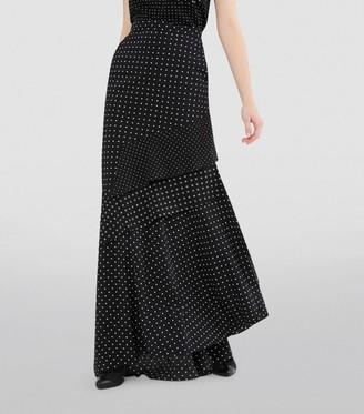 Max Mara Polka-Dot Tiered Maxi Skirt