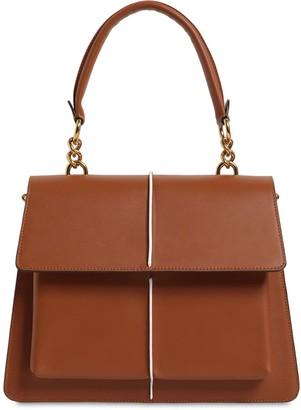 Marni Medium Attache Leather Top Handle Bag