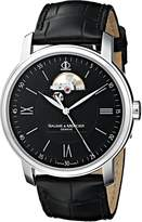 Baume & Mercier Men's MOA08689 Stainless Steel Automatic Watch with Faux-Leather Band