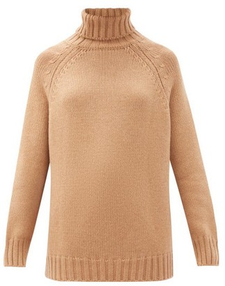 Johnstons of Elgin Sophia Roll-neck Cashmere Sweater - Camel
