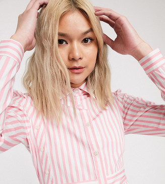 Verona maxi shirt dress in stripe