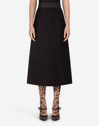 Dolce & Gabbana Double Crepe Mini Skirt