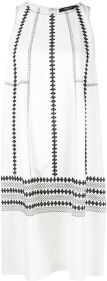 Derek Lam Embroidered Cocoon Dress