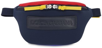 Dolce & Gabbana Logo Patch Neoprene Belt Bag