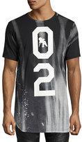 PRPS Intergalactic 02 Long Bleached T-Shirt, Black