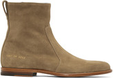 Robert Geller Taupe Common Projects Edition Chelsea Boots