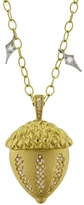 Cathy Waterman Diamond Acron Charm Pendant - Yellow Gold
