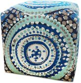 Somers Furniture American Home 18-Inch Poolside Cube Ottoman with Sunbrella® Fabric in Turquoise