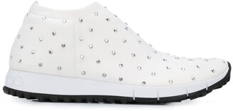 Jimmy Choo Norway crystal-embellished sneakers