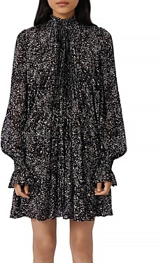 Maje Risou Metallic Printed Tent Dress
