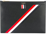 Thom Browne striped detail pouch - men - Calf Leather/Leather - One Size