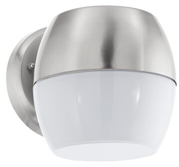 Latitude Run Angulay Black 6 3 H Hardwire Led Outdoor Armed Sconce Fixture Finish Stainless Steel Shopstyle