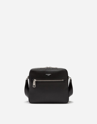 Dolce & Gabbana Gothic Messenger Bag In Calfskin
