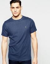 Farah T-shirt With Dobby Dot Slim Fit