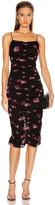 Nicholas Gathered Slip Dress in Mulberry Multi   FWRD