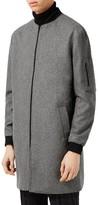 Topman Men's Longline Bomber Jacket