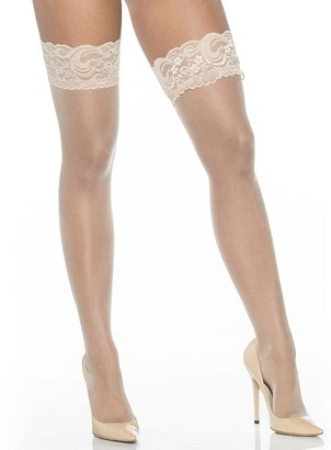 Shirley of Hollywood Lace-Top Stockings