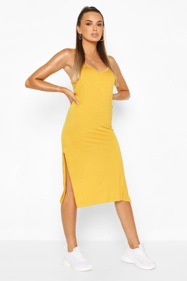 boohoo Jersey Slip Midi Dress