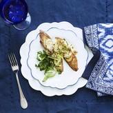 Williams-Sonoma Williams Sonoma AERIN Scalloped Salad Plates, Set of 4, Blue