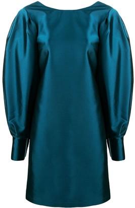 L'Autre Chose Balloon Sleeve Shantung Mini Dress