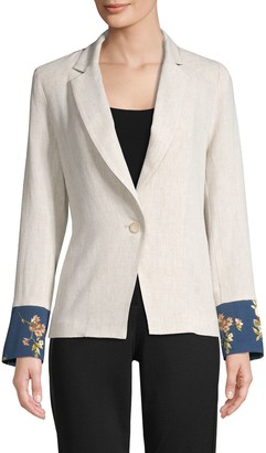 Supply & Demand Riviera Floral-Print Blazer