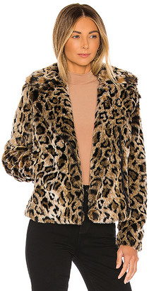 Mother The Mini Pocket Rider Faux Fur Jacket