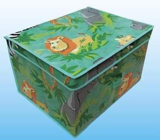 Camilla And Marc Safari Foldable Pop up Room Tidy Storage Chest Toy Box for Girls and Boys, Fabric, Green, 50 x 30 x 40 cm