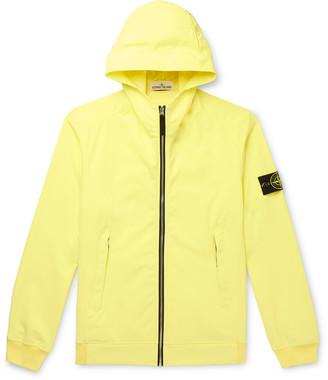 Stone Island Slim-Fit Logo-Appliqued Soft Shell Hooded Jacket