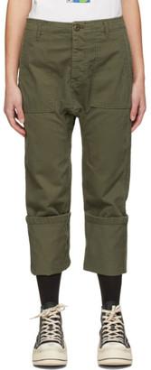 R 13 Khaki Utility Drop Crotch Trousers